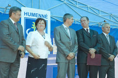 Humenne politician meeting Royalty Free Stock Photos