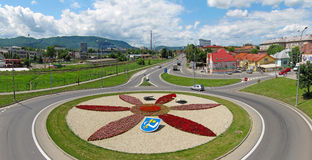 Humenne roundabout Stock Photo