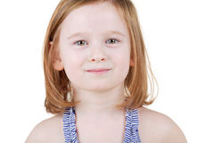 Humeral portrait of little girl Royalty Free Stock Photography