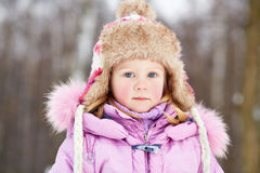 Humeral portrait of little girl in park Royalty Free Stock Images