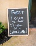 Humeur de chocolat Images libres de droits