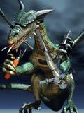 Humeur de dragon et de chevalier Photo libre de droits