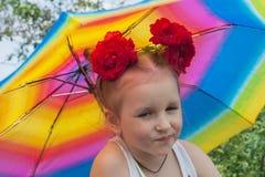 Humeur de l'enfant Photographie stock libre de droits