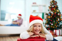 Humeur de Noël Photographie stock