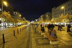 Humeur de soirée sur les rues Photo stock