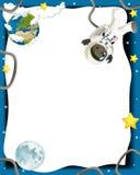 Humeur heureuse et drôle du voyage de l'espace - - illustration pour les enfants Photo libre de droits