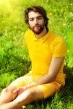 Humeur jaune images libres de droits