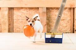 Humeurconcept voorzorgsmaatregel inzake veiligheid bij bouwwerf stock fotografie
