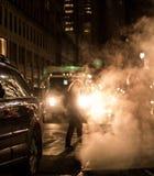 Humeurige de Stadsnacht van New York stock fotografie