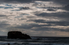 Humeurige hemel in Cornwall Stock Foto's