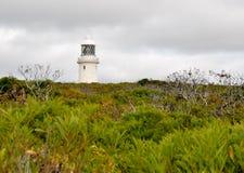 Humeurige Hemel over de Vuurtoren van Kaapnaturaliste Royalty-vrije Stock Afbeelding