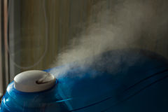 Humidifier producing a vapor Royalty Free Stock Images