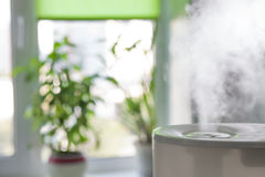 Humidifier spreading steam Royalty Free Stock Images