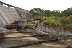Humidité de l'eau en Hoi Pui Reservoir en Hong Kong images stock