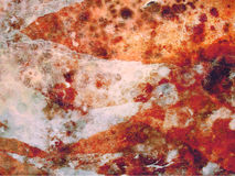 Humidity stains. Unpleasant stains of humidity on the wall. Hungus, mold and bacteria in wallpaper stock photo