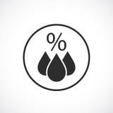 Humidity vector icon Royalty Free Stock Photo