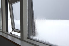 Humidity at a window Stock Image