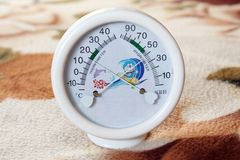 Humidometer and thermometer. Temperature and dual-purpose form of humidity Stock Photography