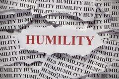 humildad Imagen de archivo