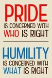 Humildad del orgullo Imagenes de archivo