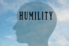 HUMILITY - personality concept royalty free illustration