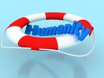 Hummanity do salvamento Imagem de Stock