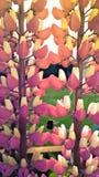 Hummel und Blumen Lizenzfreies Stockfoto