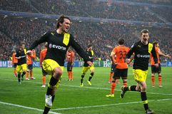Hummels celebrates scored goal Royalty Free Stock Images