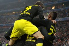 Hummels and team celebrates scored goal Royalty Free Stock Photography