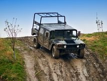 HUMMER. In an Offroad Race Stock Photos
