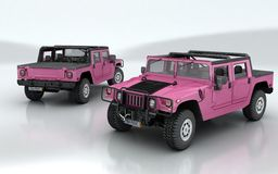 Hummer Barbie edition royalty free illustration
