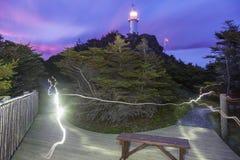 Hummer-Bucht-Kopf-Leuchtturm, Neufundland Lizenzfreie Stockfotos