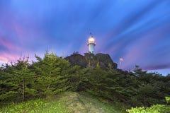 Hummer-Bucht-Kopf-Leuchtturm, Neufundland lizenzfreies stockfoto