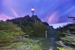 Hummer-Bucht-Kopf-Leuchtturm, Neufundland stockbild