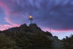 Hummer-Bucht-Kopf-Leuchtturm, Neufundland stockfoto