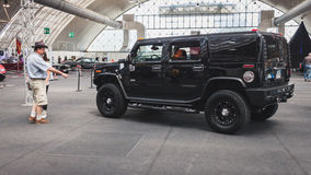 Hummer car on display at Rocking the Park event in Milan, Italy Stock Photos