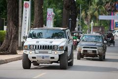 Hummer car in Siem Reap, Cambodia Royalty Free Stock Photo