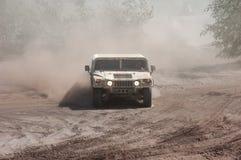 Hummer em uma raça Offroad Imagem de Stock