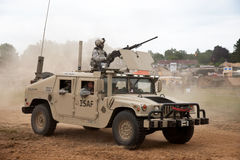 Hummer fighting vehicle Stock Photo