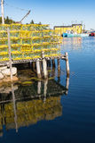 Hummer-Fischereihafen Stockbild