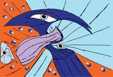 Hummer geométrico abstrato colorido com olhos ilustração do vetor