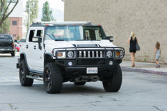 Hummer H2 car on display Royalty Free Stock Photography