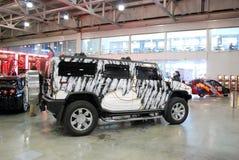 Hummer H2 GMT 840 in Krokus Expo 2012 Royalty-vrije Stock Foto's