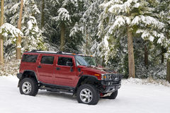 Hummer H2 In The Snow Stock Photography