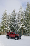 Hummer H2 in the snow Stock Images