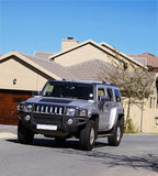 Hummer H3 - Silver royalty free stock image