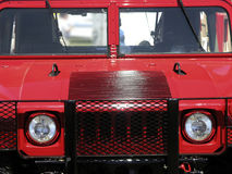 Hummer Head on. Military HumVee in red stock photography