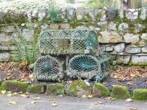 Hummer-Kisten auf Lindisfarne die heilige Insel Lizenzfreie Stockfotografie