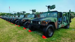 Hummer militaire image stock