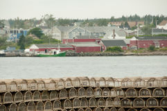 Hummer schließt - Louisbourg - Nova Scotia ein lizenzfreie stockfotografie